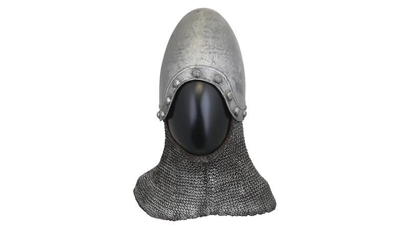 "Cylindrical"" helmet from medieval period"