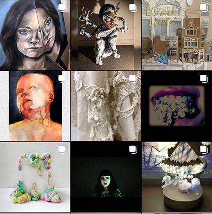 Selection of work from BA Art and Design Virtual Open Studio exhibition
