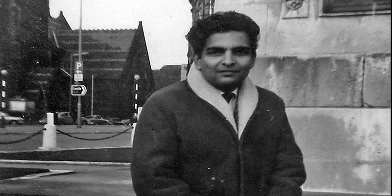 Sayeed rahman on campus in the sixties