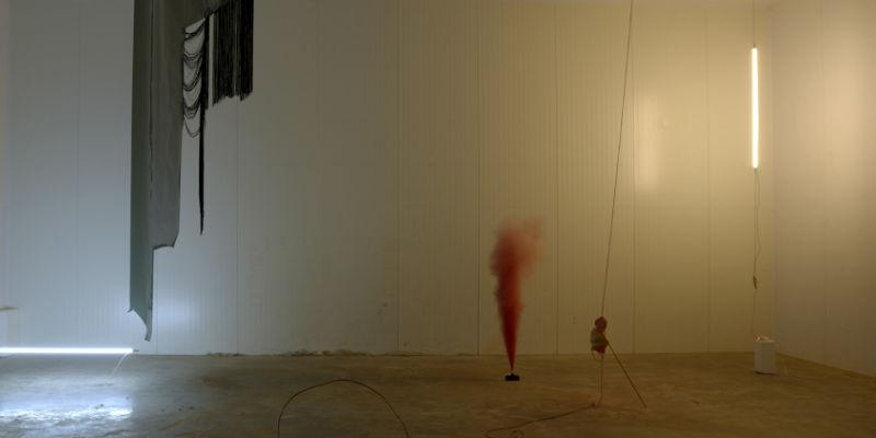 Art installation in a gallery space by Jo McGonigal