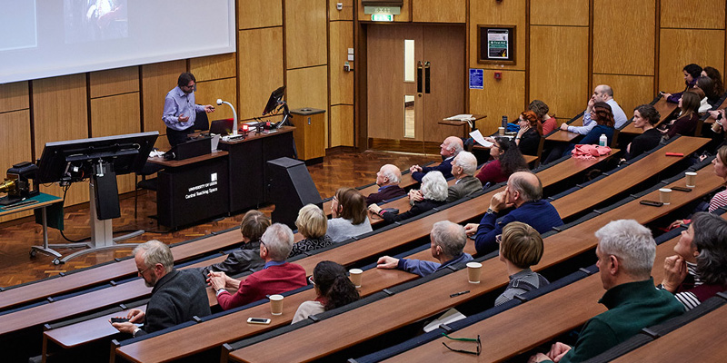Lecture in Rupert Beckett Theatre
