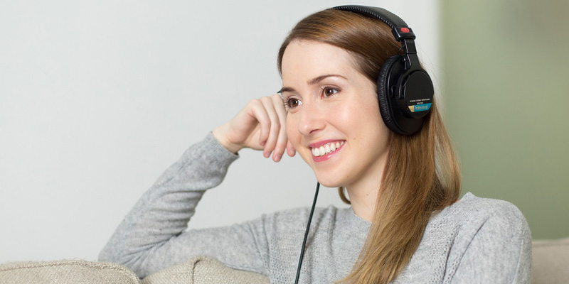 Person using headphones