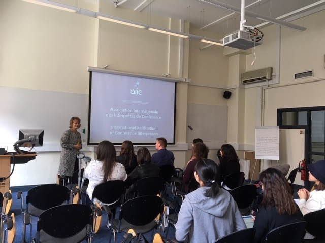 The International Association of Conference Interpreters (AIIC) presentation to students from the Centre for Translation Studies