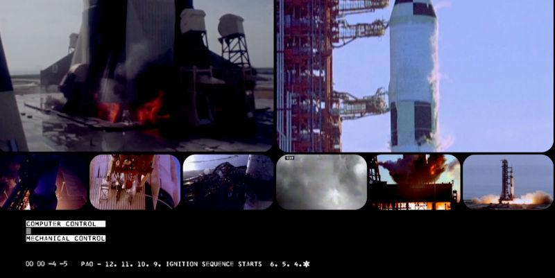 Still from Carl Grinter's Thesis: Birth (2018). Images from the NASA Film Archive.
