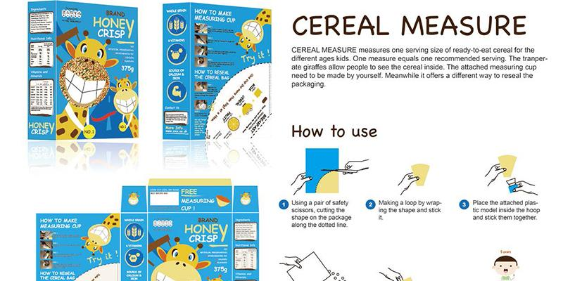 Cereal measure tool created as part of the Downsizing project