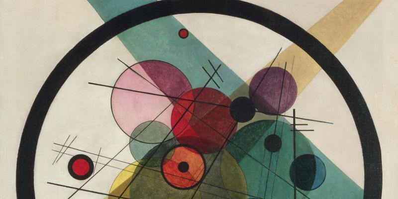 Detail from Circles in a Circle artwork by Vasily Kandinsky, The Philadelphia Museum of Art with thanks for The Louise and Walter Arensberg Collection, 1950.