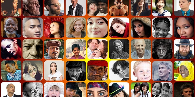 Collage of many people from different cultural and ethnic backgrounds