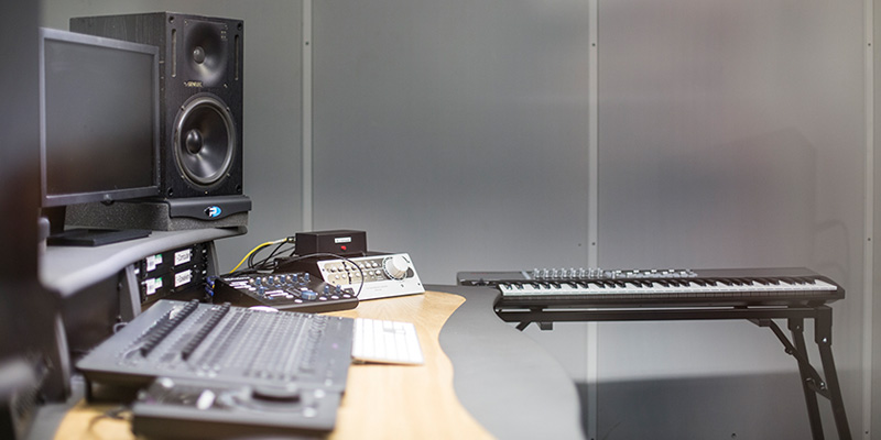 Music editing equipment and software.