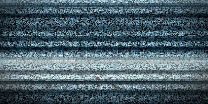 Image of interference on a television screen