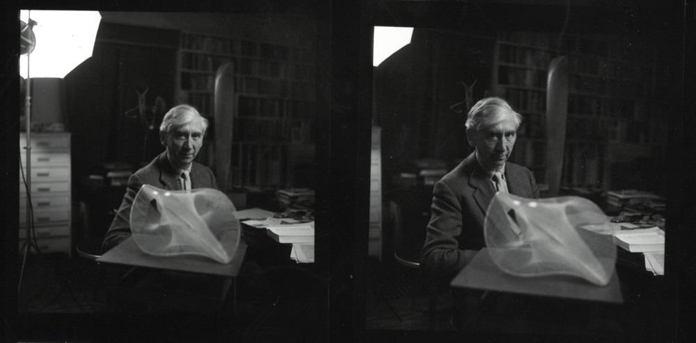 Herbert Read examining archives