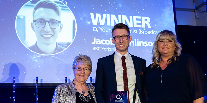 Jacob Tomlinson wins Young Journalist of the Year at the O2 Media Awards 2019