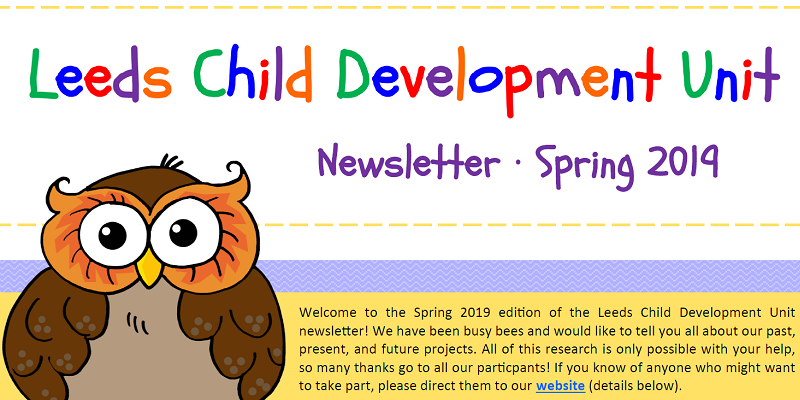 Leeds Child Development Unit newsletter