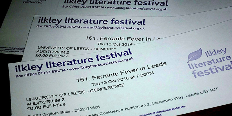 Tickets and report by Freya Pelissier, final year student in English and Italian.