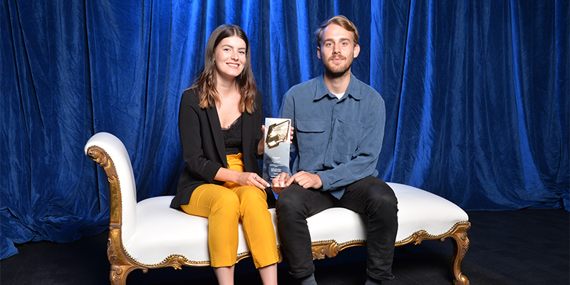 Charlotte Field and Hugh Clegg win RTS Student Television Award