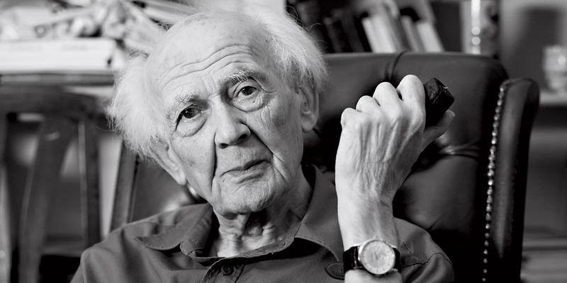Black and white photograph of Zygmunt Bauman