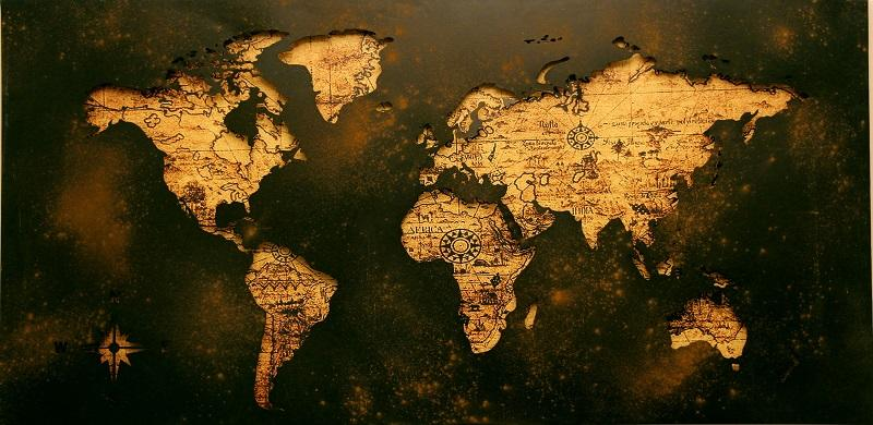 Picture from atlas of world map