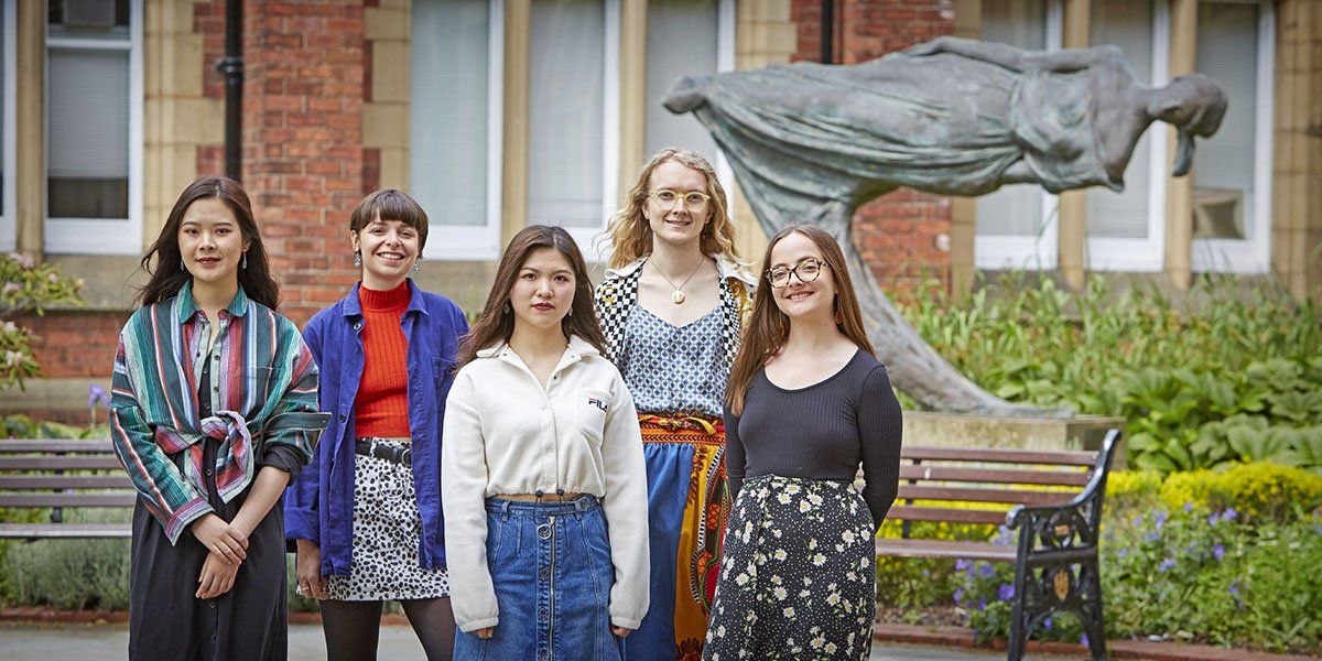 Student interns working with Yorkshire Sculpture International.