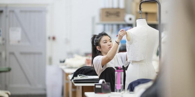 Fashion student in the School of Design