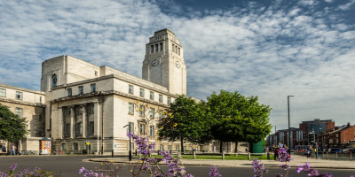 exterior of the Parkinson building on the University of Leeds campus
