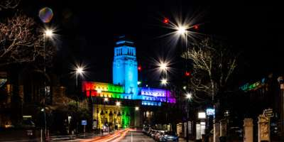 Parkinson Building Night LGBQT