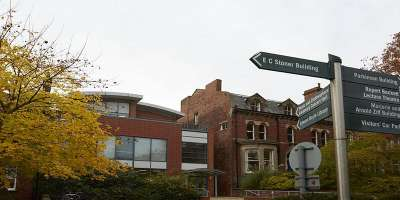 Image of School of Music in the autumn,