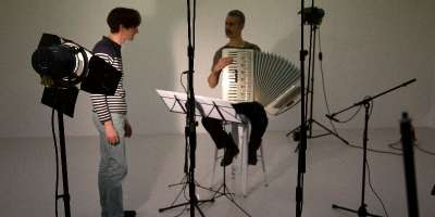 Accordion, 2012, work in progress, Sam Belinfante, Mark Knoop and Neil Luck