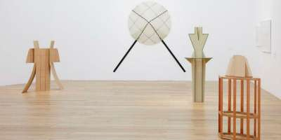 Diane Simpson: Sculpture, Drawing, Prints 1976–2014: sculptures in Nottingham Contemporary, 2020. Photo: Stuart Whipps.
