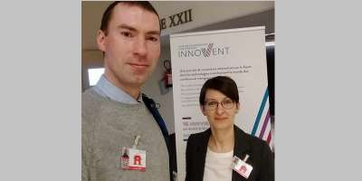 Dragos and Aline of Leeds CTS at the Innovent event