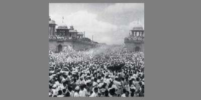 Historial photo of crowd in India-Pakistan