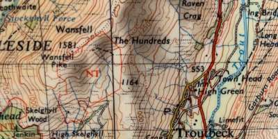 Ordnance Survey, 1966, Tourist Map of the Lake District, 1:63 360