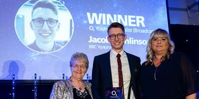 Jacob Tomlinson wins O2 Media Award for Young Journalist