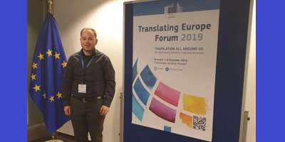 Jae Marple representing CTS at TEF in Brussels