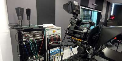 Television studio and equipment for the Arabic Media Dictionary news story