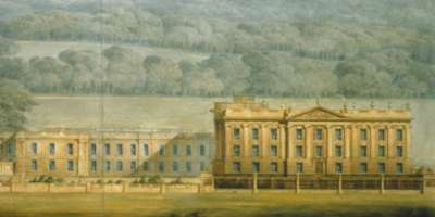 Wyatville design for west front, Chatsworth