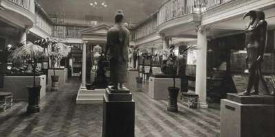 Wellcome Historical Medical Museum, Wigmore Street, London: the galleried Hall of Statuary. Photograph: Wellcome Collection