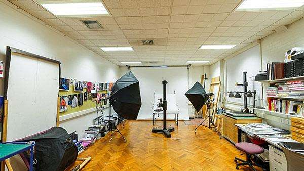 Photography studio in the School of Design